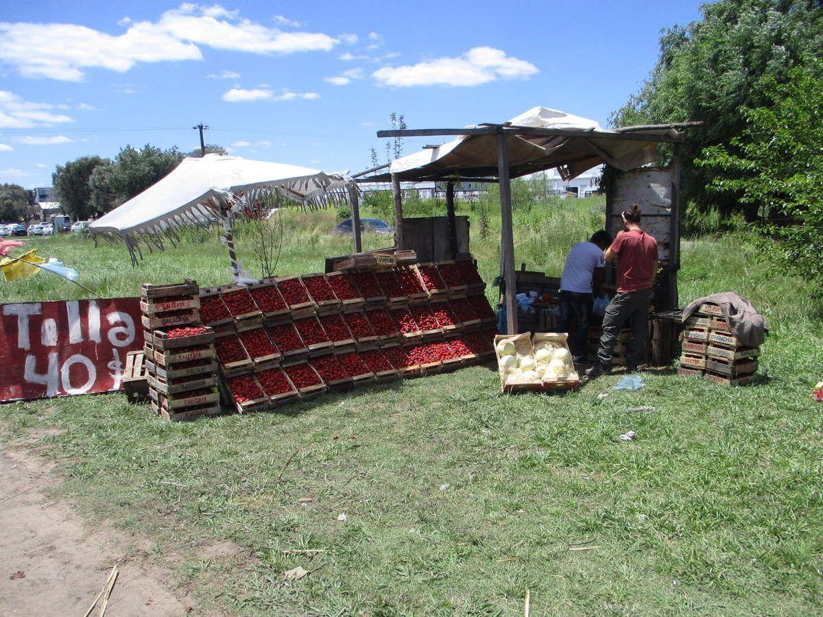 Des vendeurs sur les bords de route: fraises, mangues, avocats, oranges, ananas... un délice