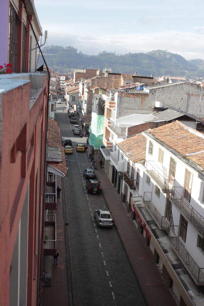 Vue de la terrasse de l'hostel