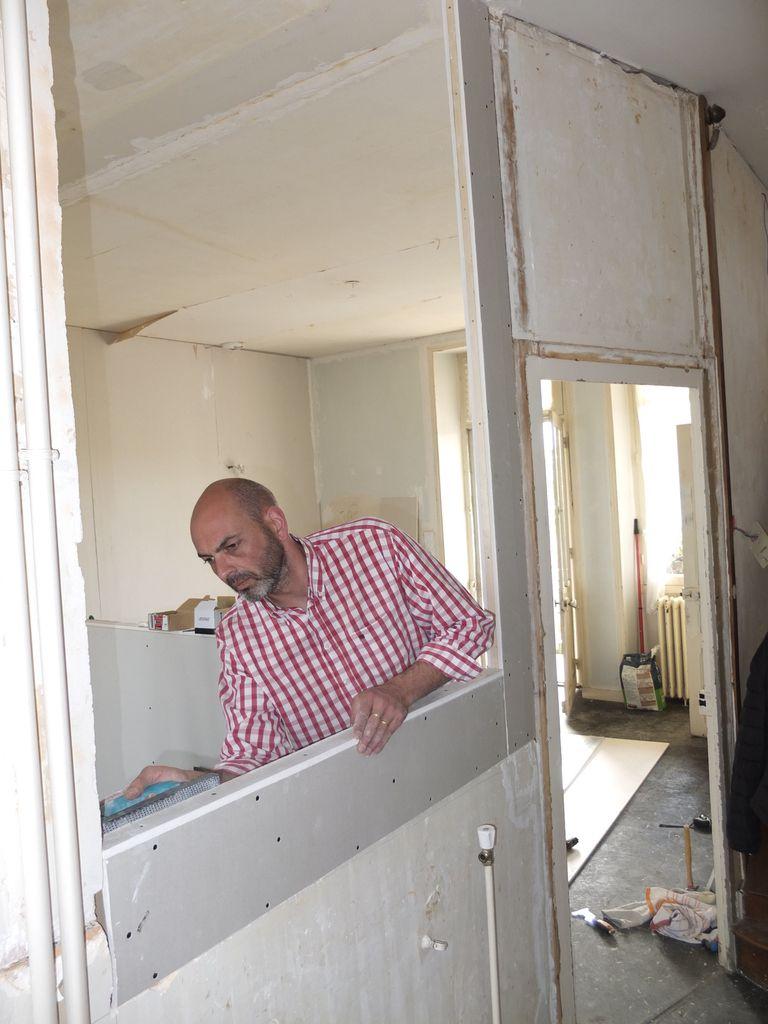 R novation maison 1930 parthenay 2016 chrislemans for Separation salon en platre