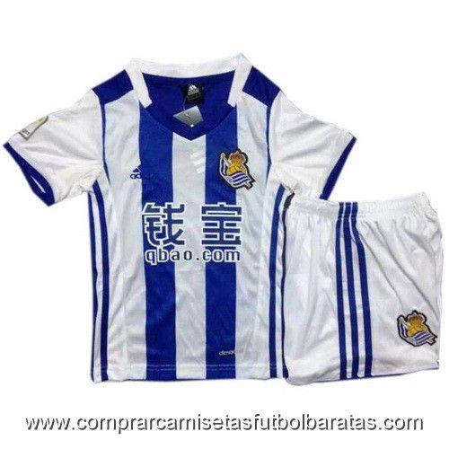 Camisetas para niño Real Sociedad 2017 - Camisetas baratas de ... 365c2b8c23a64