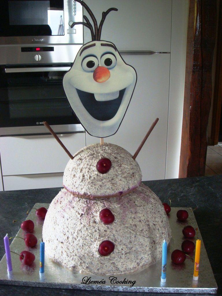 Gâteau Olaf : 4 ans Emma