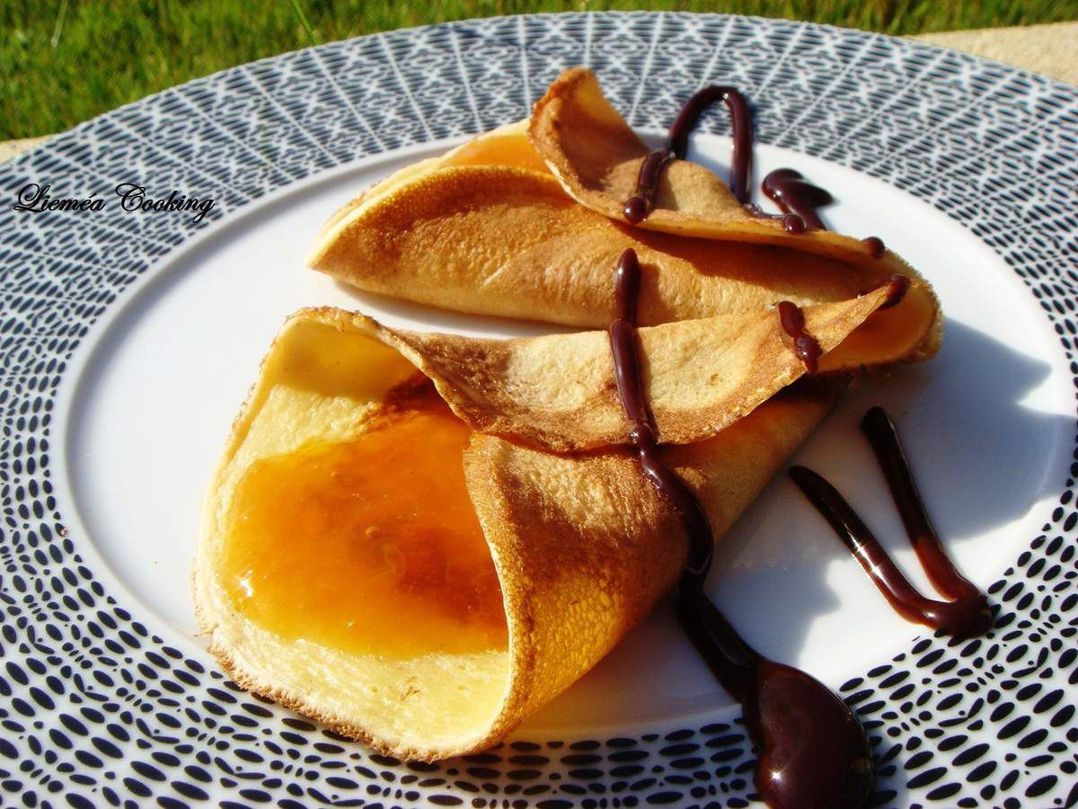Crêpes abricot et chocolat