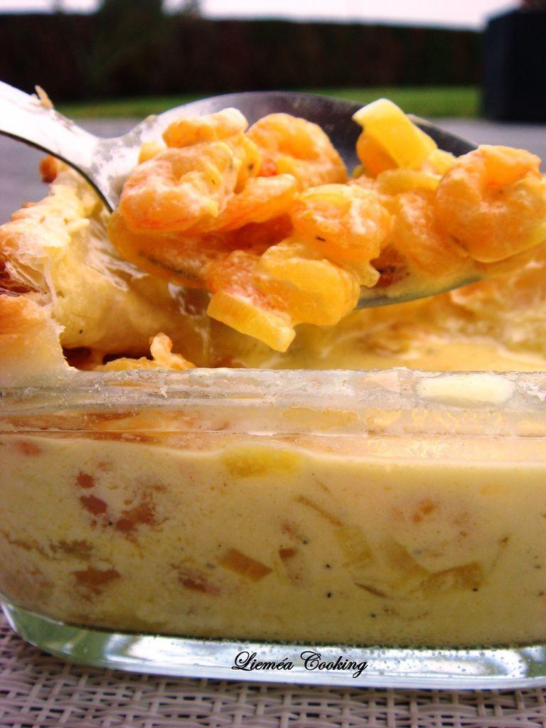 Soufflé de crevettes sauce safran