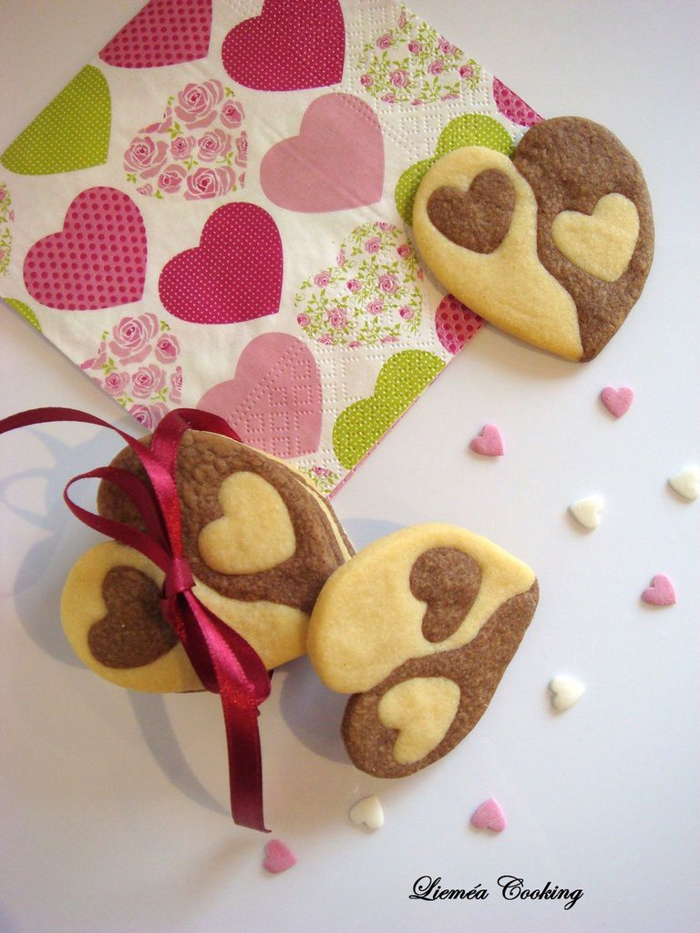 Cœur sablé vanille chocolat