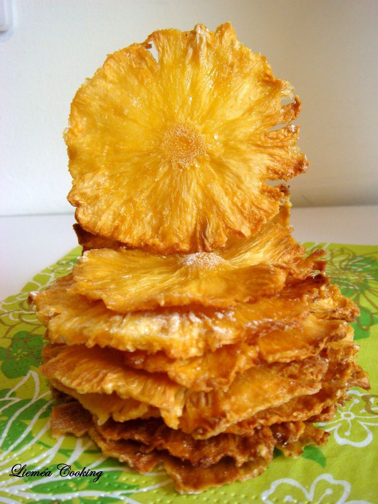 Chips d'ananas (idée déco)