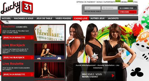 Lucky 31 : le casino en ligne en direct en français incontournable