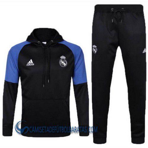 Sudadera con capucha Adidas UCL del Real Madrid 2017 negro - Comprar ... 5093e43085ced