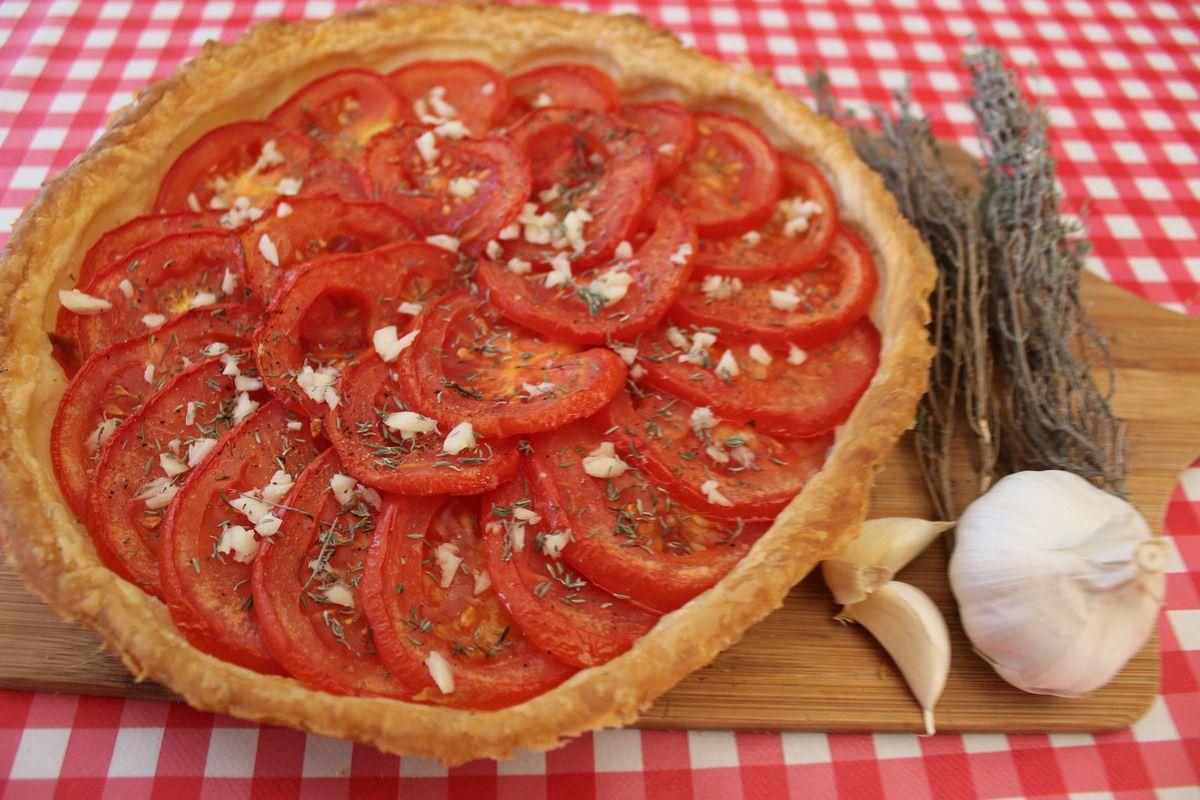 •☼• Tarte feuilletée aux tomates et thym frais •☼•