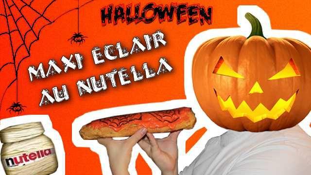 Maxi Eclair Au Nutella Spécial Halloween
