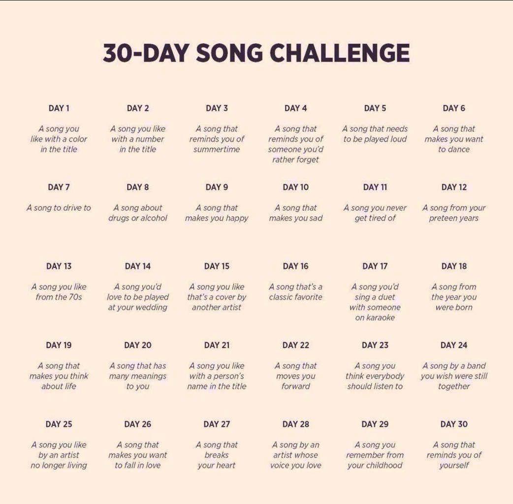 DEFI 30 jours de chansons francophones - Jour 1