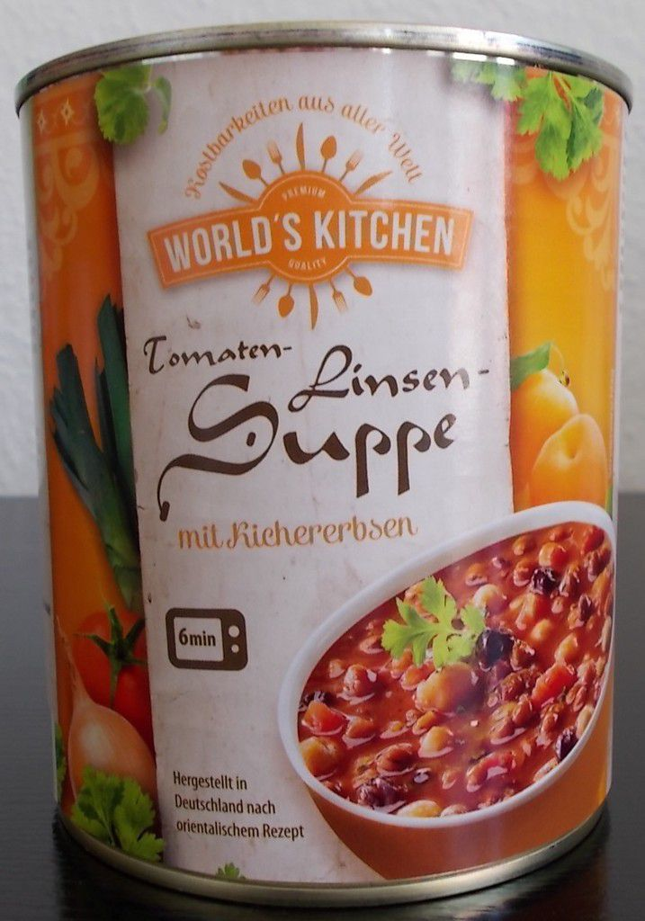 aldi nord world 39 s kitchen tomaten linsen suppe mit. Black Bedroom Furniture Sets. Home Design Ideas