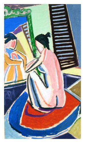 huile sur papier 46 cm X 82 cm (1971)