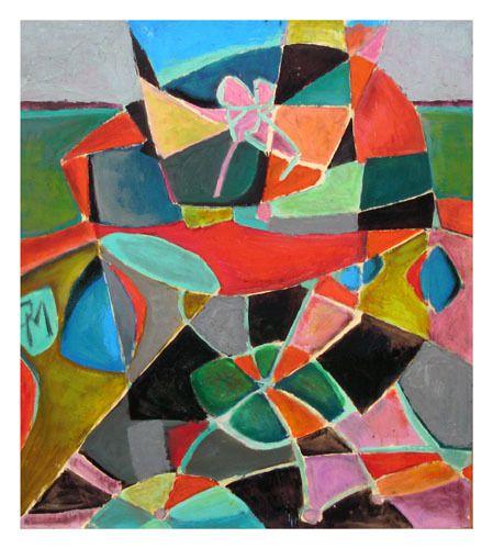 huile sur papier 58 cm X 65 cm (1978)