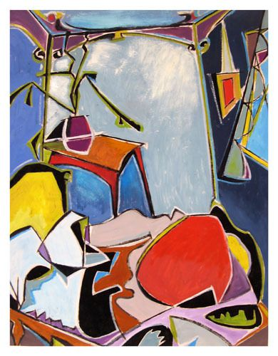 huile sur papier 66 cm X 86 cm (1989)