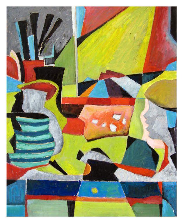 huile sur papier 80cm X 99 cm (1976)
