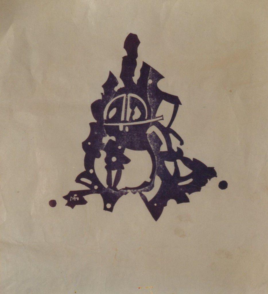 Linogravure: Le Violoncelle