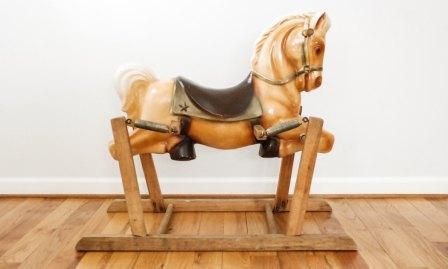 Wood Rocking Horses, Plush Rocking Horses, and Spring Horses Provide Loads of Riding Fun