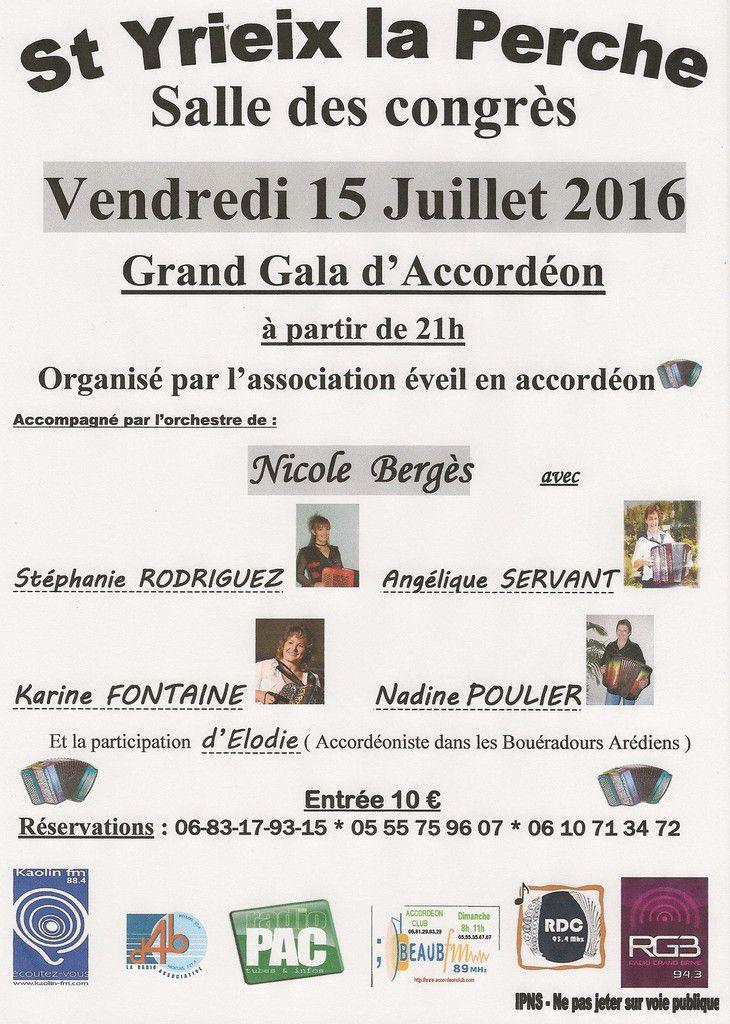 4ème Gala d'éveil en accordéon saint yrieix la perche