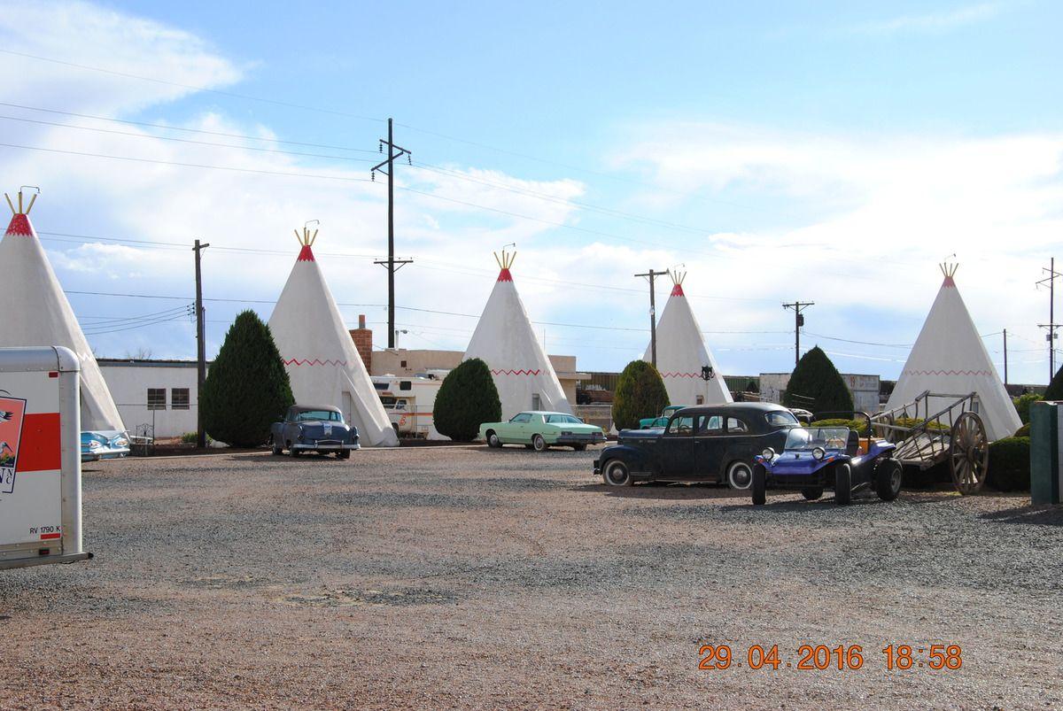 icône de la route 66 le Wigwam motel à Holbrook