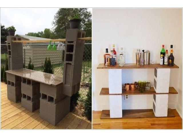 quelques id es d co avec des parpaings astuces travaux bricolage. Black Bedroom Furniture Sets. Home Design Ideas