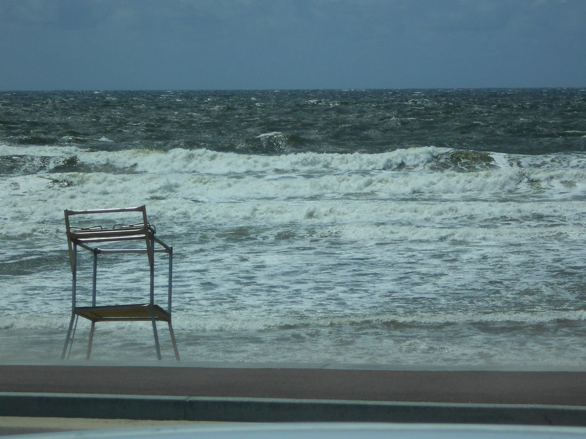 Une mer démonté nous a accueilli.