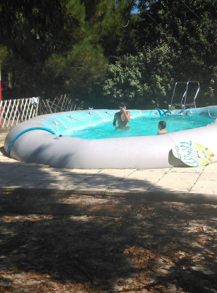 Un soleil éblouissant, 34°, et la piscine pour se rafraîchir.