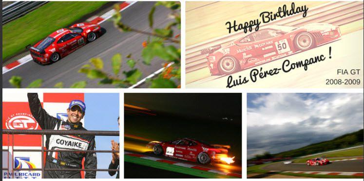 Luis Pérez Companc recibe saludo de cumpleaños de FIA GT