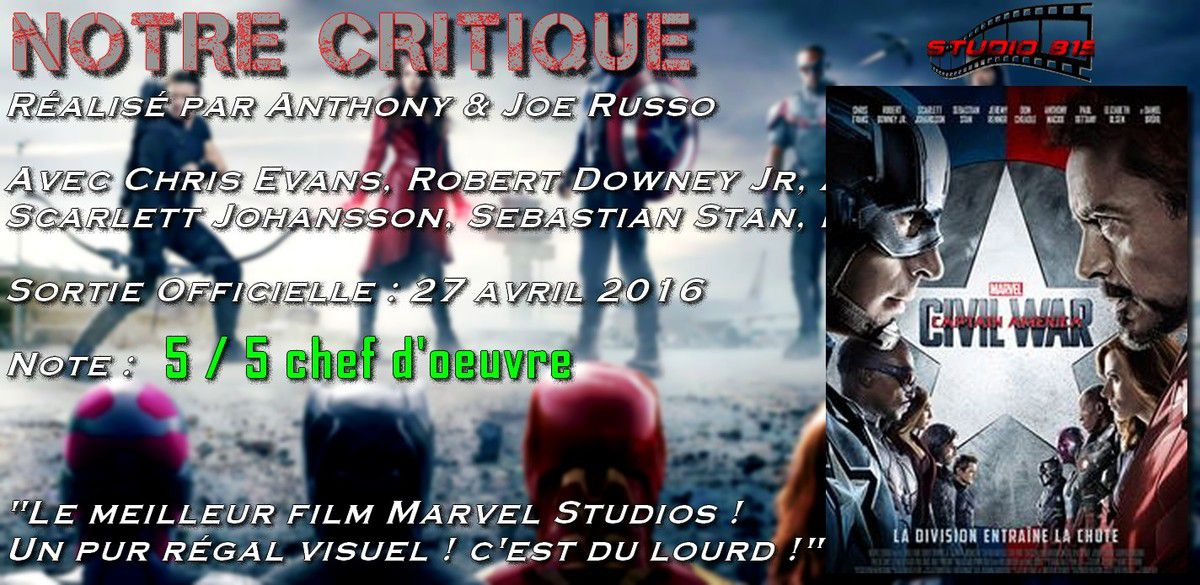 Notre Critique : Captain America Civil War