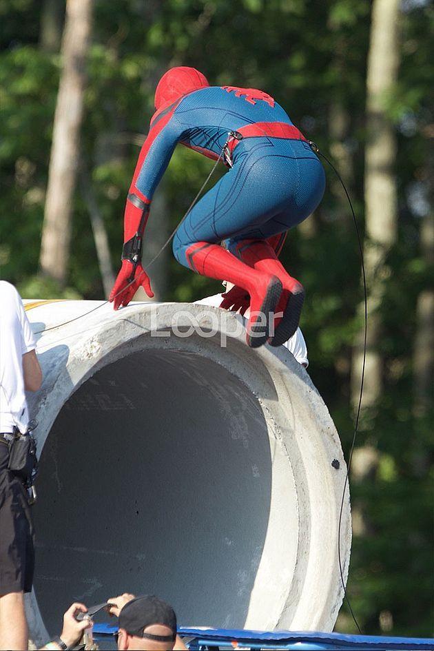 Spider-Man en plein action