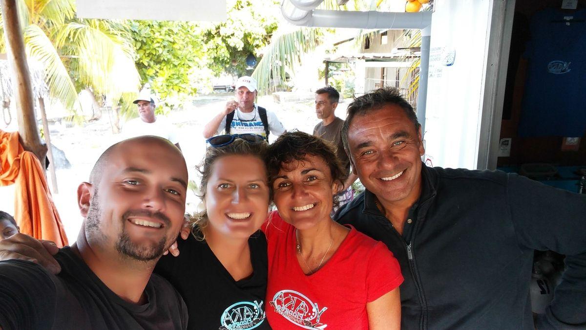 Rangi Plage (la pension) et Virginie, Cathy et JM de YakaPlonger !!!