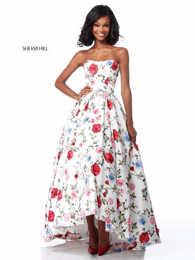 8d7dbfcee1 Be bold and rock this printed Sherri Hill dress 51795 for your social  occasion. See More  long printed prom dresses