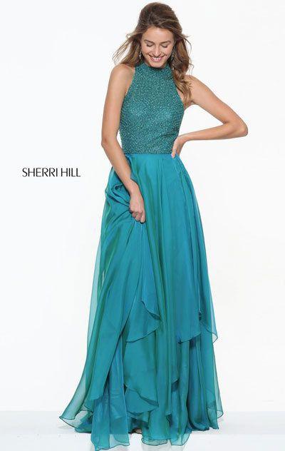 Sherri Hill 2018 Prom Dresses Jade Color