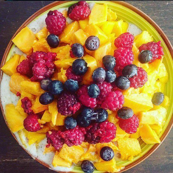 Petits-déjeuners et repas de midi très fruités