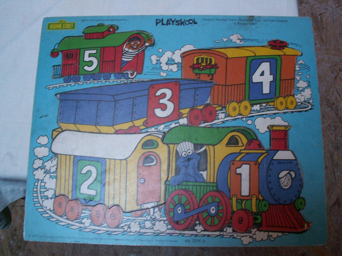 apprend a compter avec sesame street cookie's number train 1979?