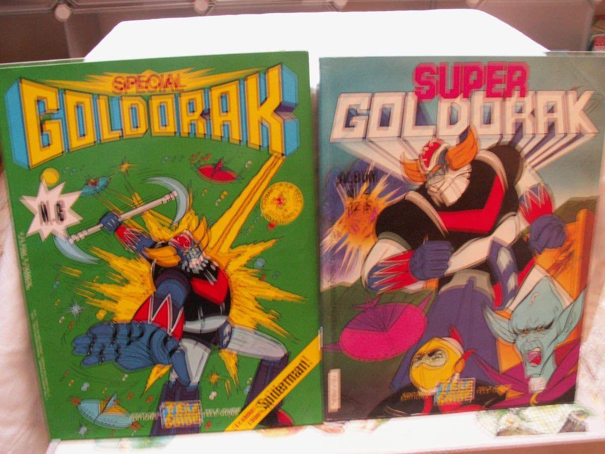 spécial goldorak n°6 1978, super goldorak album n°4 1978, spécial goldorak n°4 et 3 édition télé guide