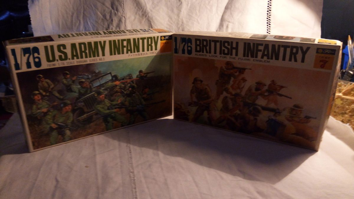 fujimi us army infantery serie 3 et british infantery serie 7