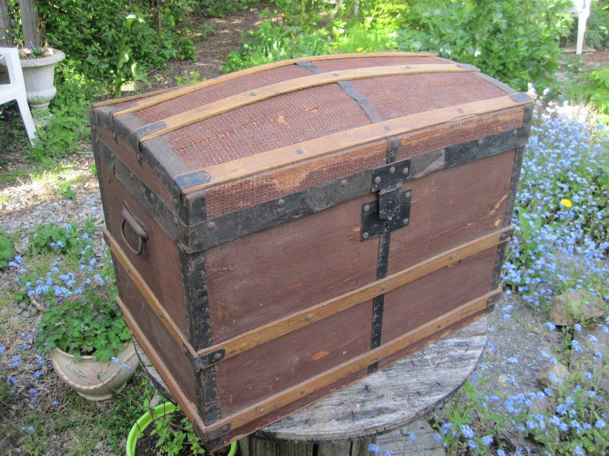 Ancienne malle de voyage au fil des temps - Malle de voyage ancienne ...
