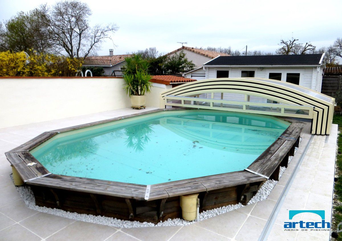 Piscine bois enterre for Piscine hexagonale semi enterree