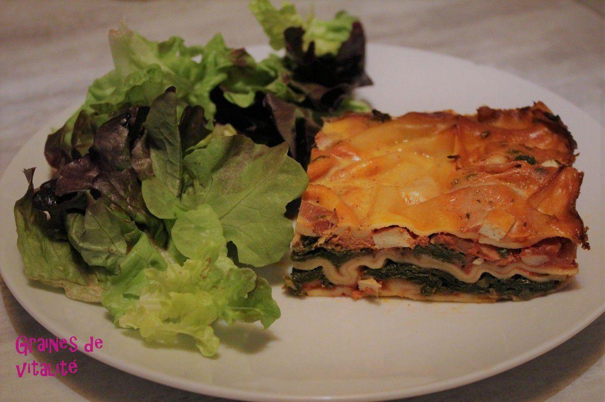 Mes lasagnes végétariennes aux épinards