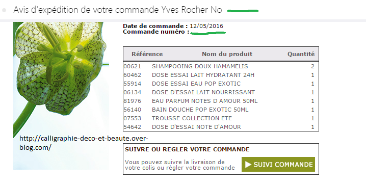 Yves rocher cadeau surprise de 45 euros re u big for Miroir yves rocher