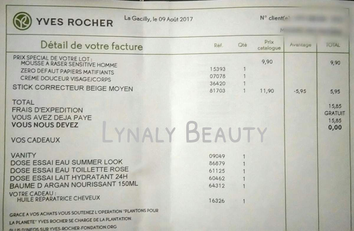 Mes achats Yves Rocher