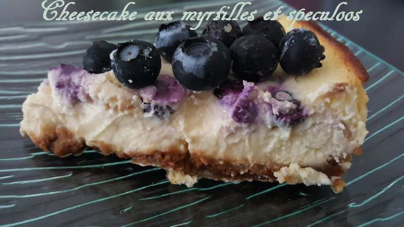 Cheesecake speculoos aux myrtilles