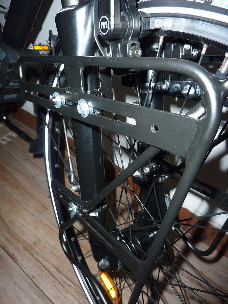 Montage porte-bagages avant Zéfal Raider Front + sacoches Ortliel Front Roller Classic sur vélo Decathlon Riverside 7