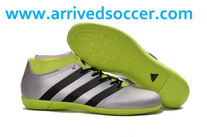 be74a75f5 Adidas ACE 16.3 Primemesh Indoor Silver Metallic Black Yellow Soccer Boots