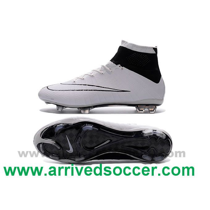 best website 3824d 4ef97 White and Black Nike Mercurial Superfly 4 FG Football Boots ...