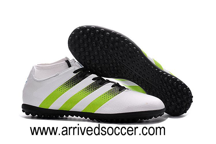 d122b85d2 Adidas ACE 16.3 Primemesh TF White Green Black Grass Nail Soccer Shoe