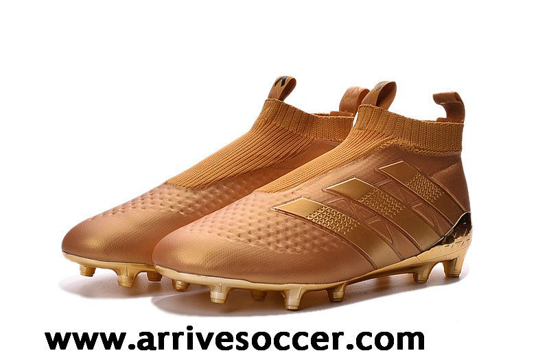 new products e8cee 60e4a Adidas ACE 16+ PureControl FG All Gold Boots without ...