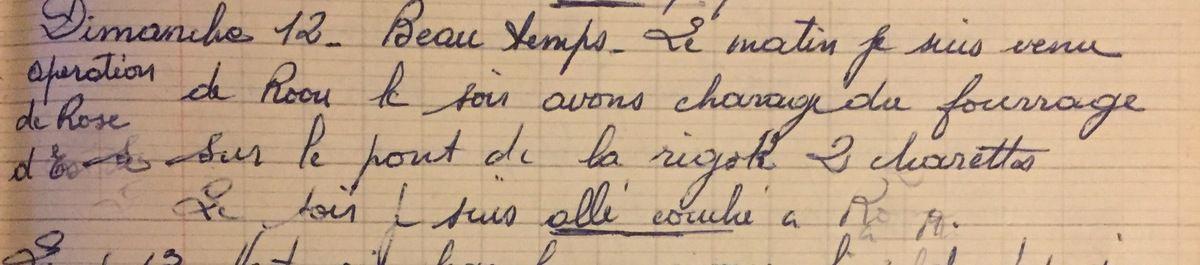 Dimanche 12 août 1956 - les charrettes