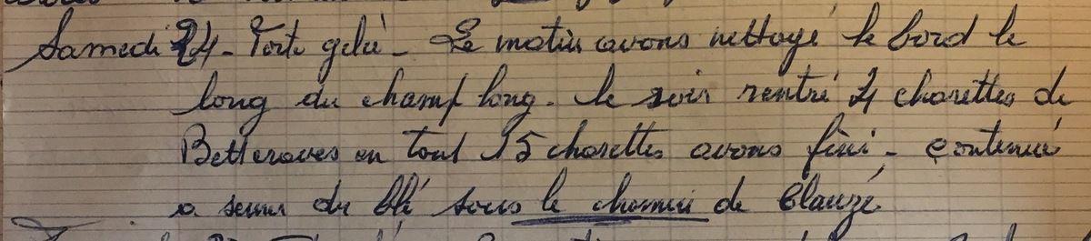 Samedi 24 novembre 1956 - 15 charrettes de betterave