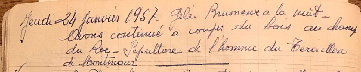 Jeudi 24 janvier 1957 - Un enterrement